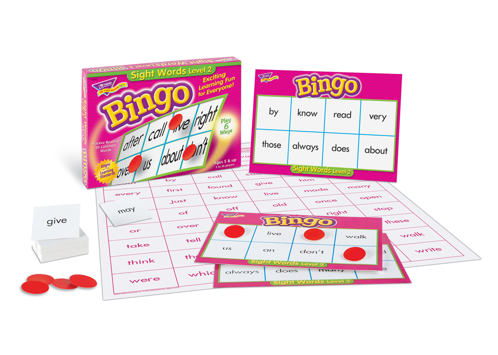 Sight Words Level 2 Bingo