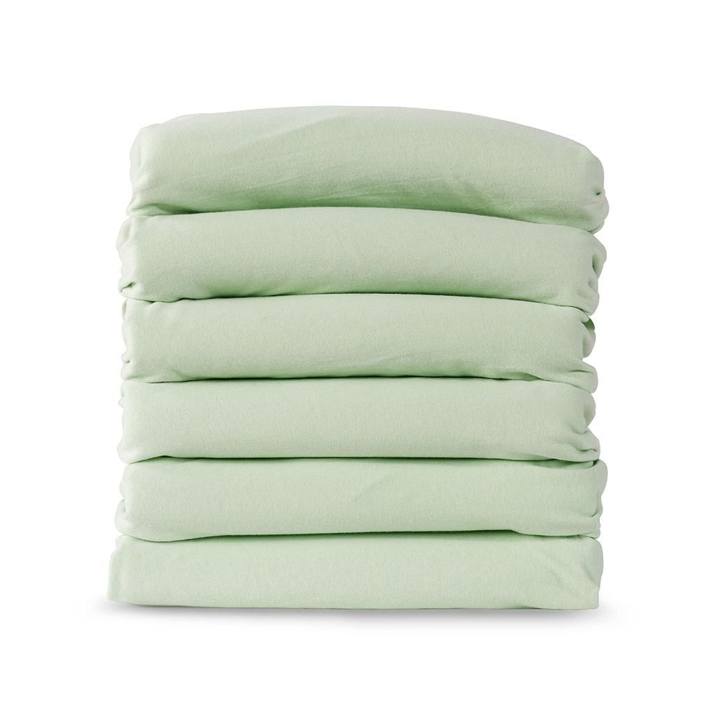 Compact Fitted Crib Sheets, Mint, Set of 6
