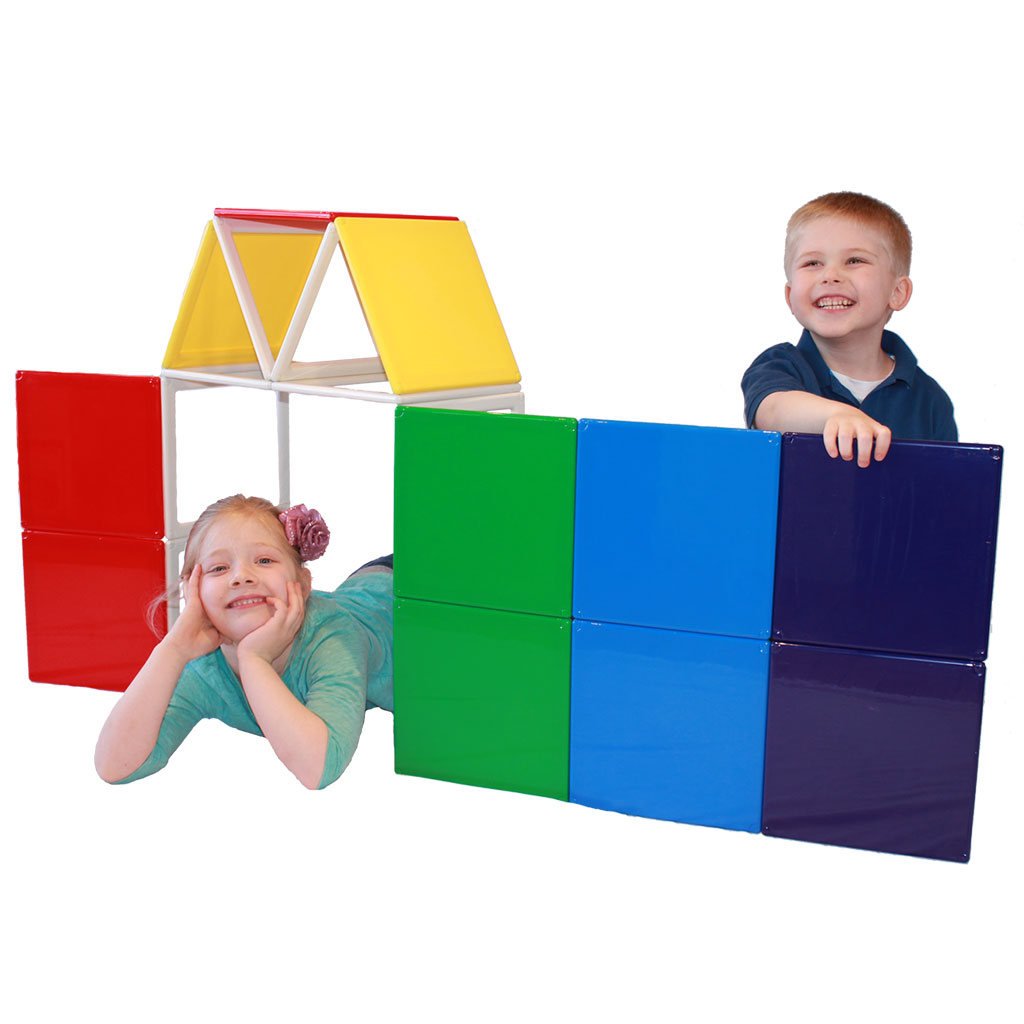 Panelcraft Rainbow Solids Magnetic Builder Set