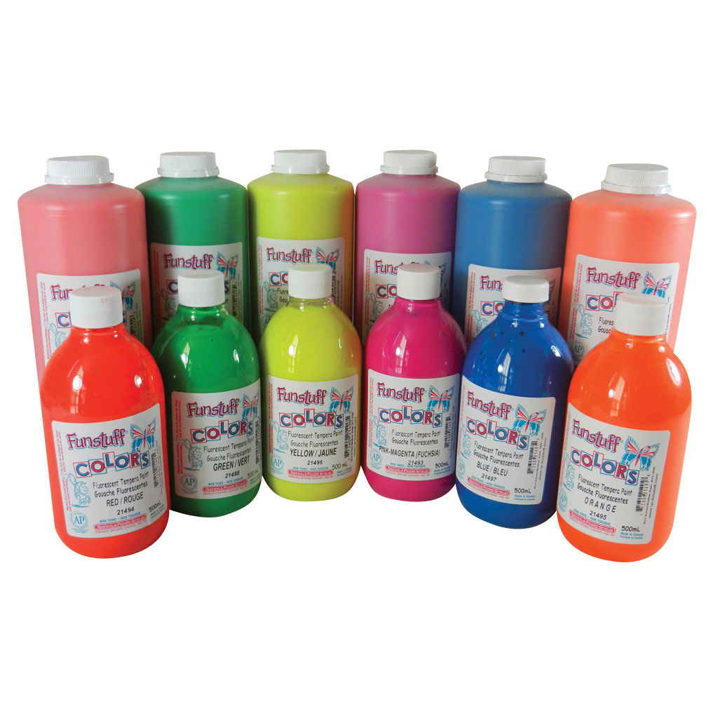 *Fluorescent Washable Tempera Paint, 1 L, Blue