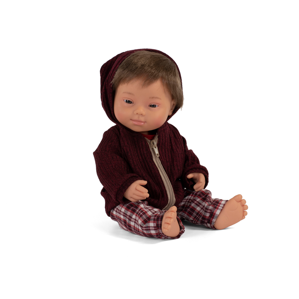 "Down Syndrome Baby Doll, Boy, 15"", Caucasian"