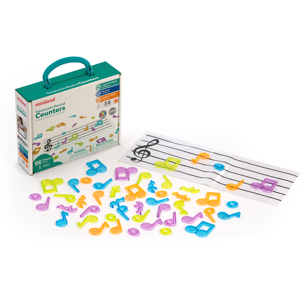 Musical Counters, Translucent, 96 Pieces