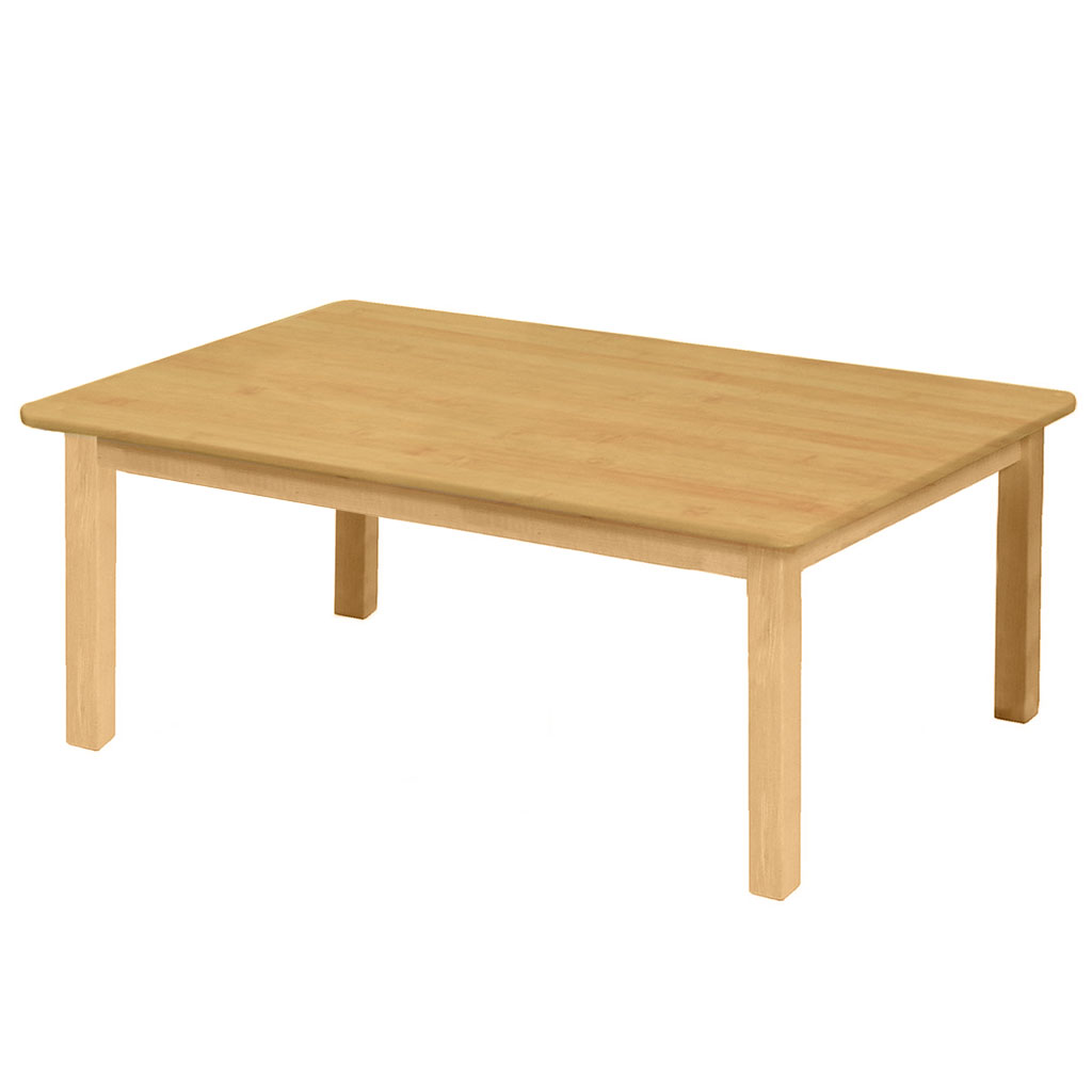 "Premium Solid Wood Table, 24"" x 36"", Rectangle, Maple, 16"" High"