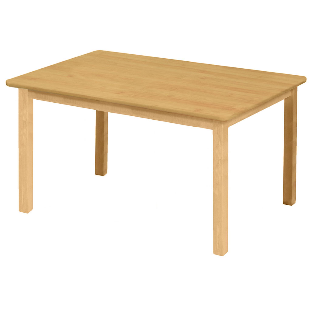 "Premium Solid Wood Table, 24"" x 36"", Rectangle, Maple, 22"" High"