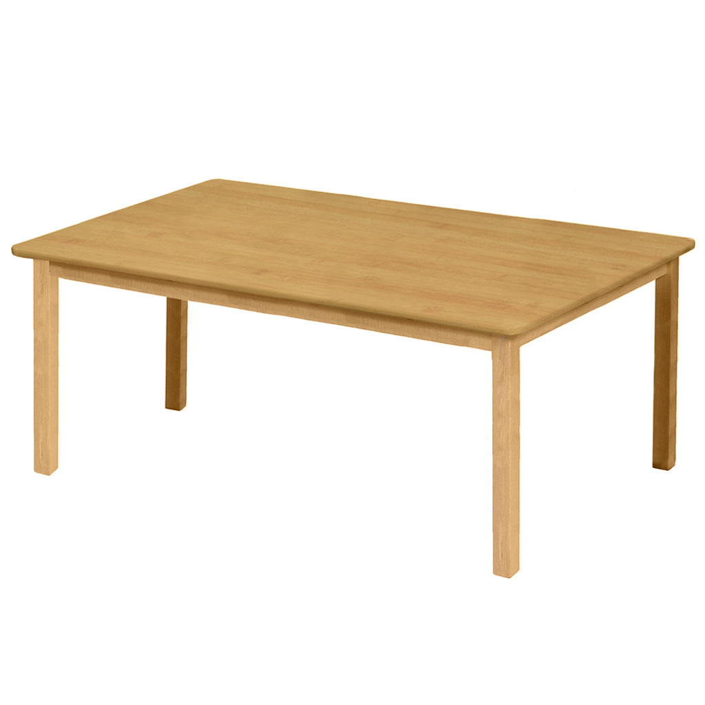 "Premium Solid Wood Table, 30"" x 48"", Rectangle, Maple, 22"" High"