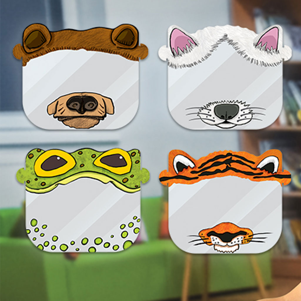 My Animal Face Shields, Set of 8