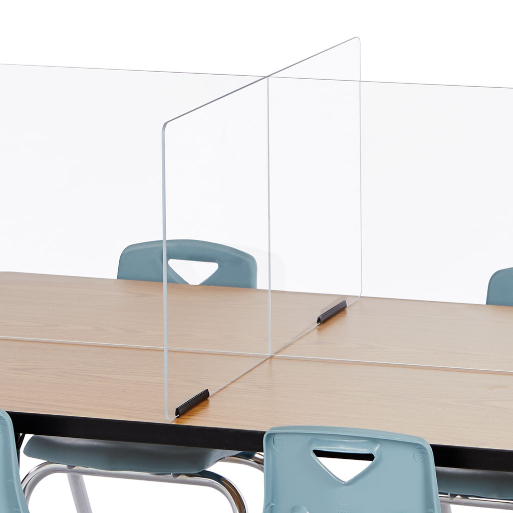 "Table Divider Shields, Clear, 6 Station, 70-1/2"" x 29-1/2"""
