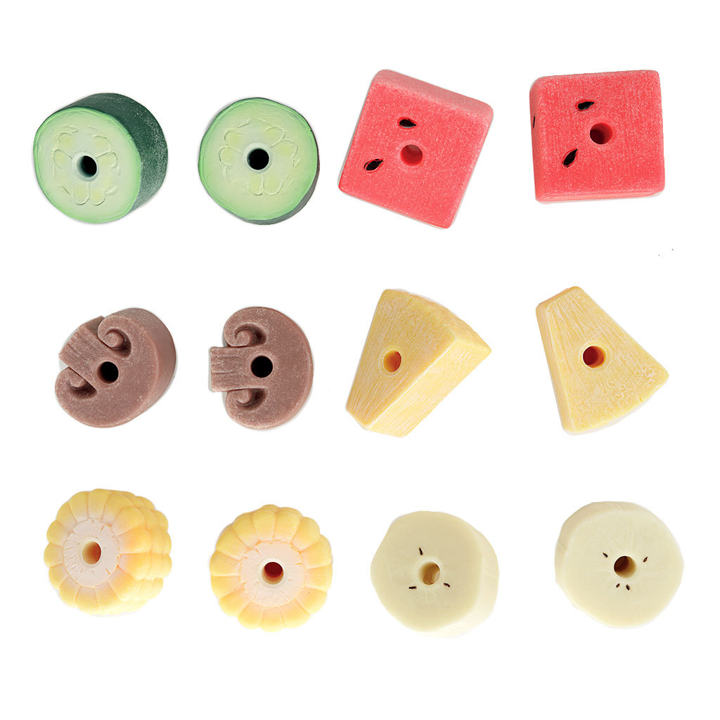 Sensory Play Stones, Threading Kebabs, 12 Pieces