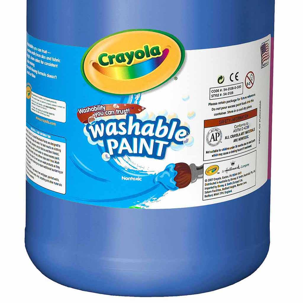 Crayola Washable Tempera Paint, 3.8 L, Blue