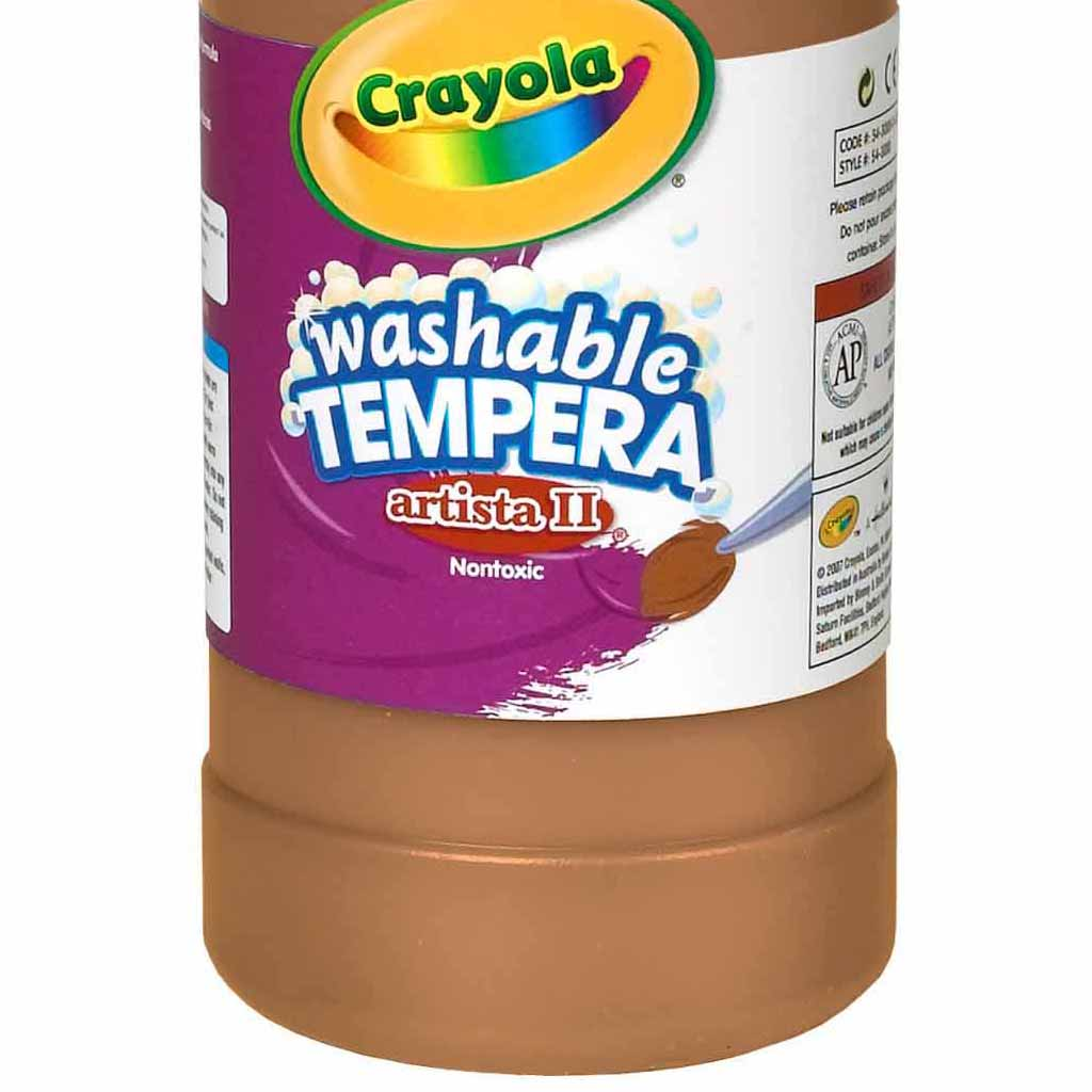 Crayola Washable Tempera Paint, 946 ml, Brown