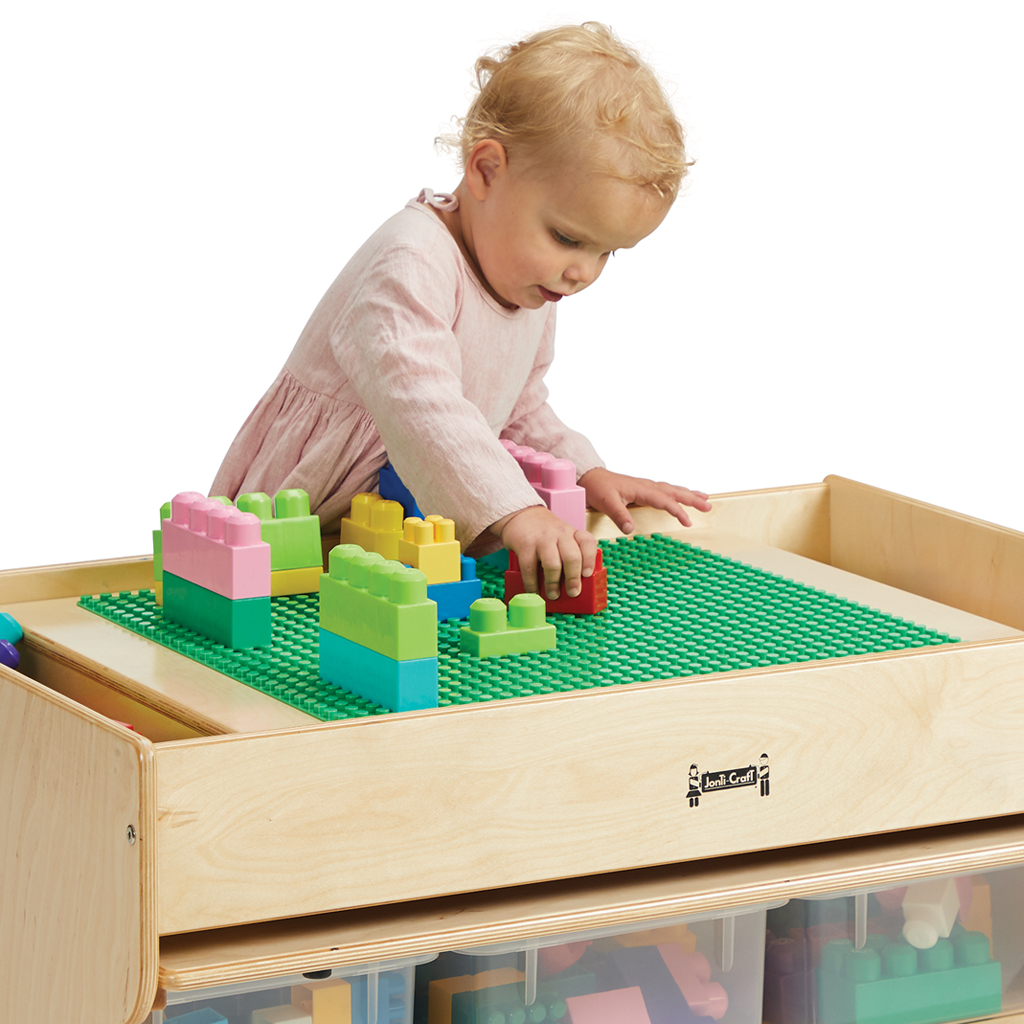 Deluxe Building Table, LEGO Duplo Compatible