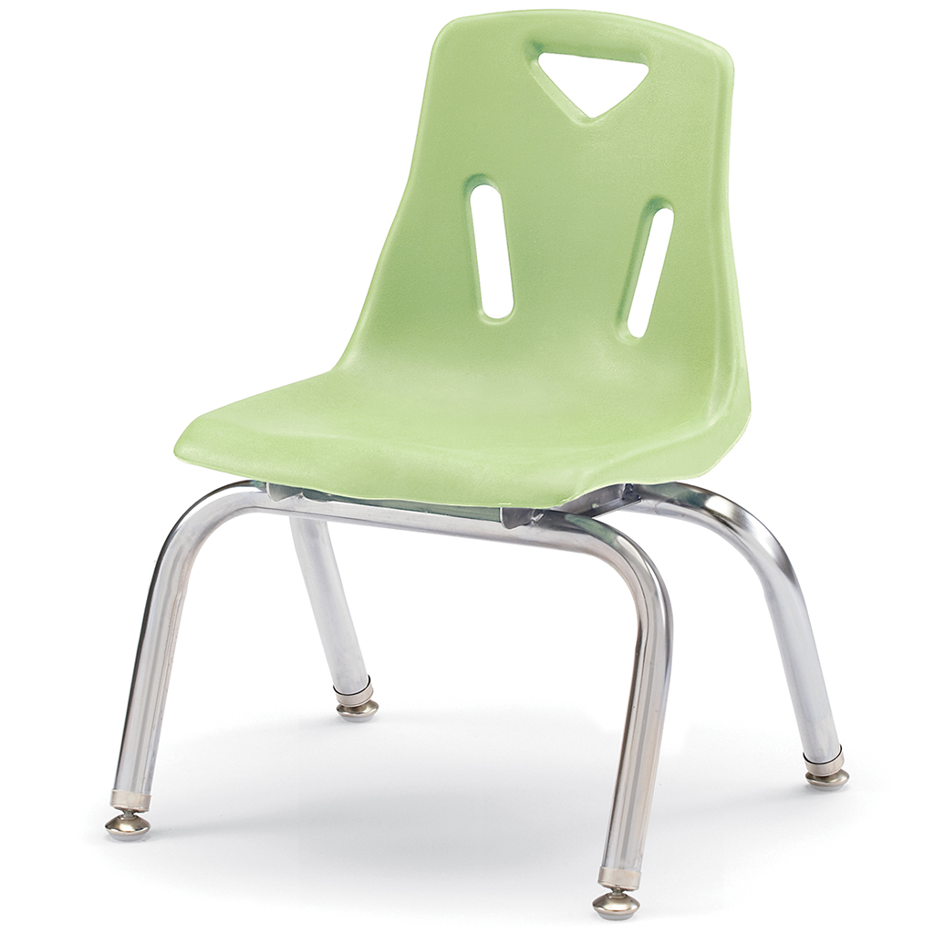 "Berries Stacking Chair, Chrome Legs, 10"" Seat Height, Key Lime"