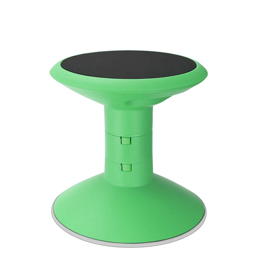 "Wiggle Stool, 12""-18"" Seat Height, Green"