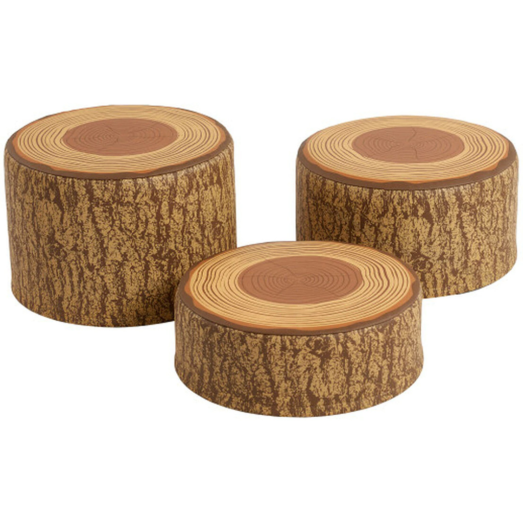 Tree Stump Stools, Set of 3