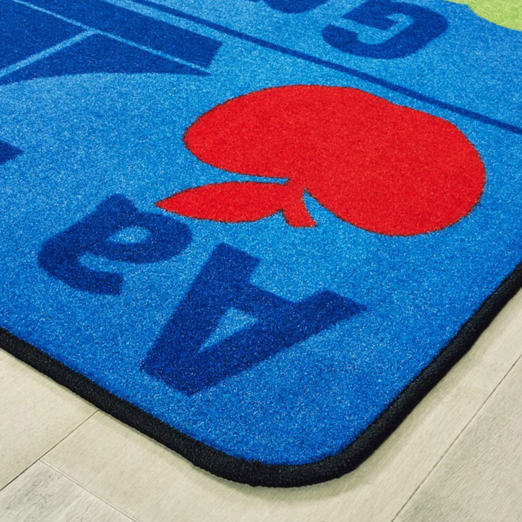 Kids Value Plus Alphabet Seating Rug, 6' x 9', Rectangle