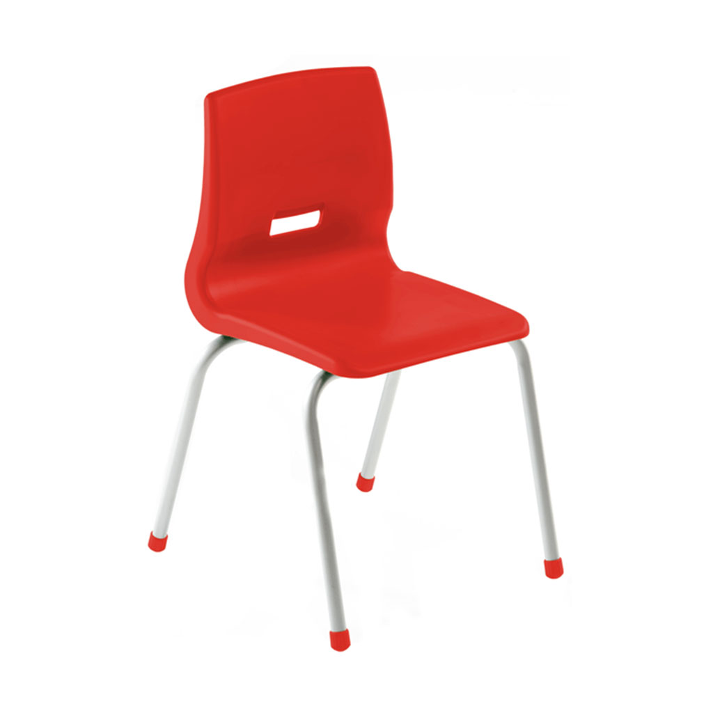 "Kudos Chair, 16"" Seat Height, Red"