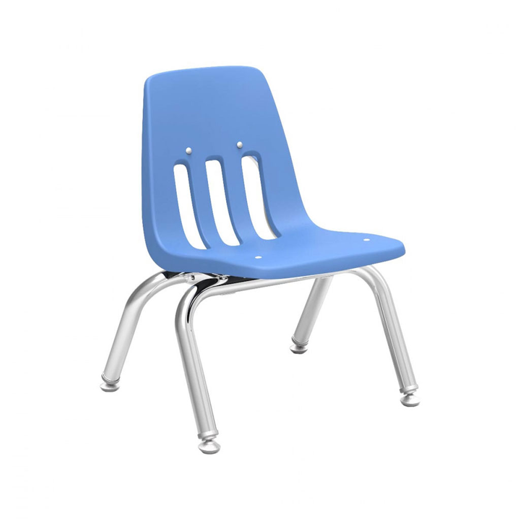 "Classroom Chair, 12"" Seat Height, Blueberry"