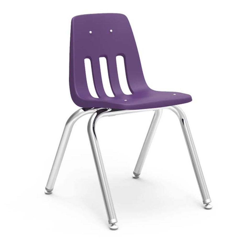 "Classroom Chair, 16"" Seat Height, Purple"