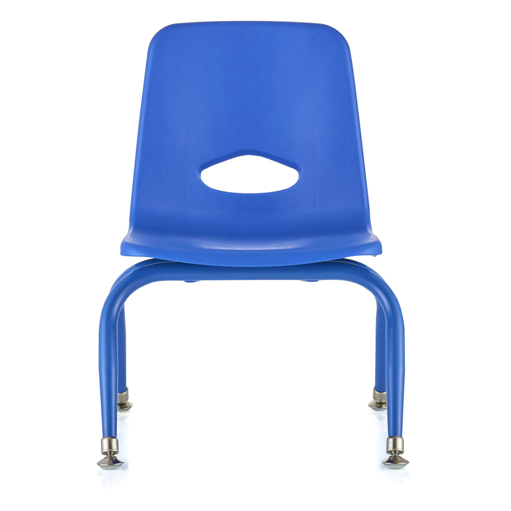 "Classroom Stacking Chair, 9-1/2"" Seat Height, Blue"