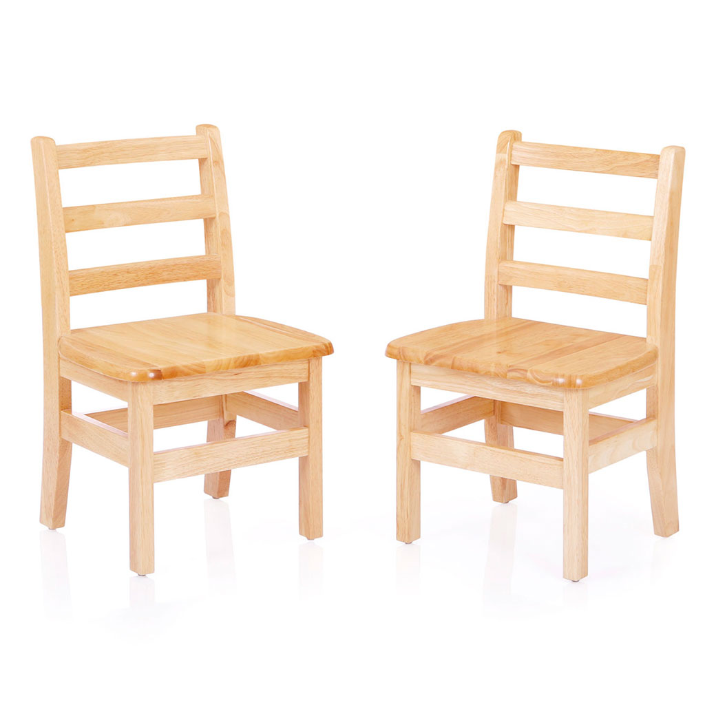 "Chunky Table and Chairs Set, 24"" x 24"", Square, Maple"