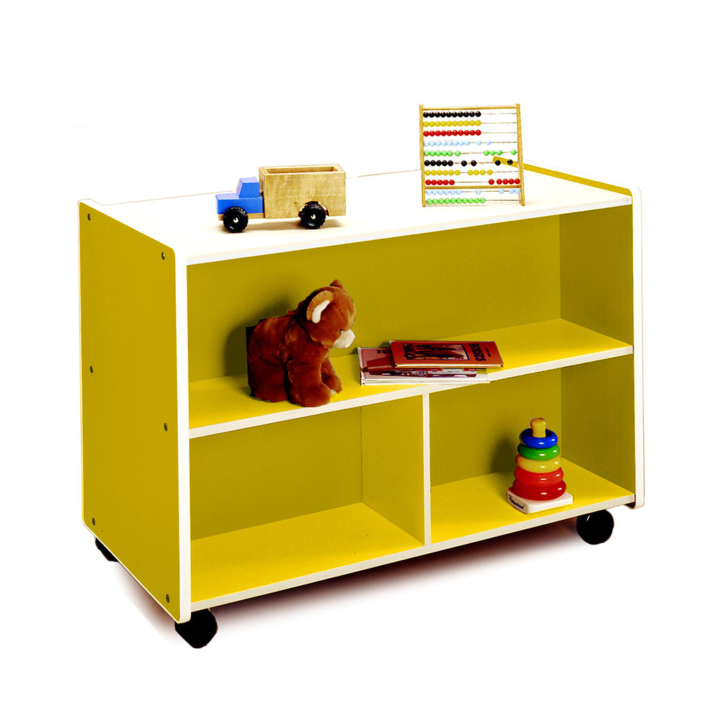 Double-Sided Mobile Storage, Large, Yellow