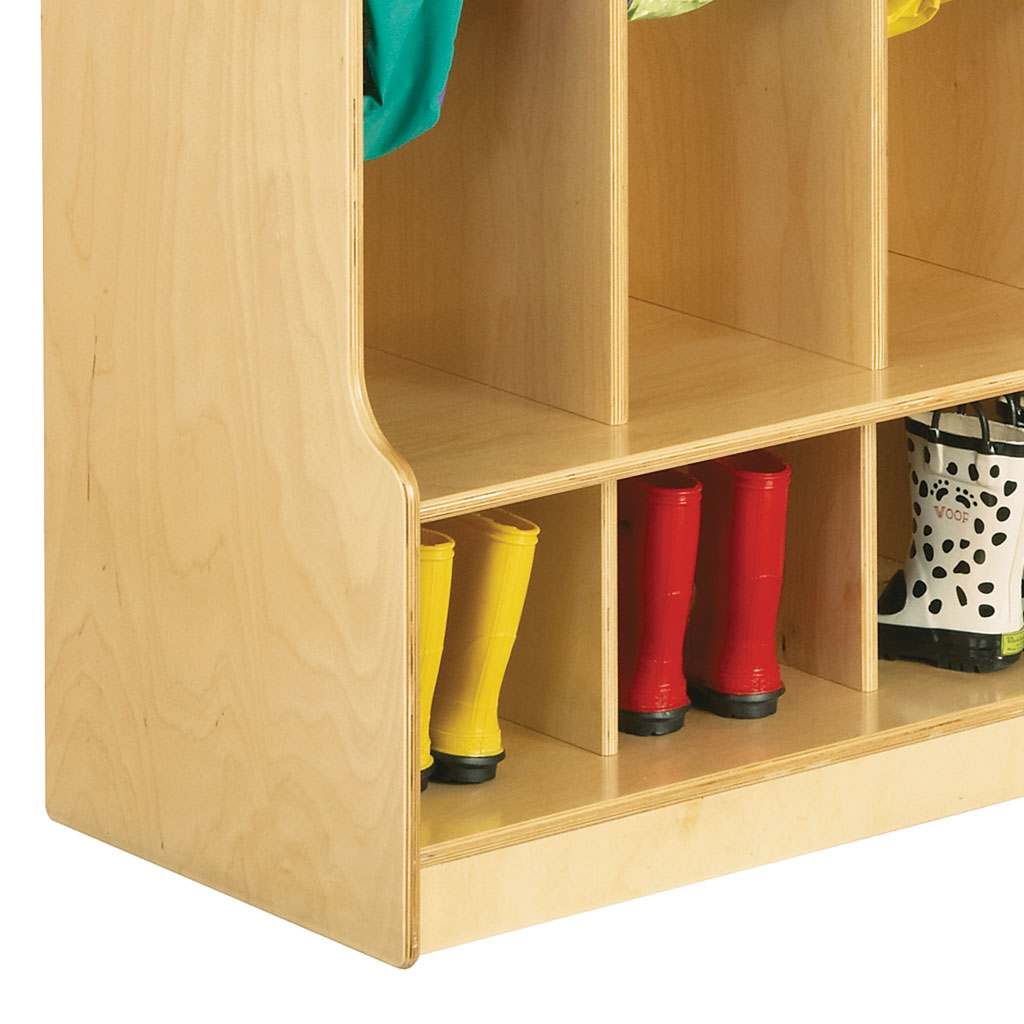 5-Section Coat Locker with Step