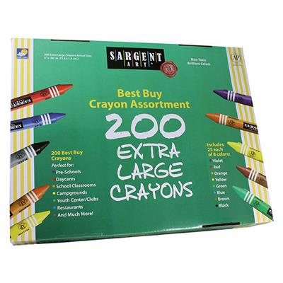 Best Buy Extra Large Crayons, Assorted, Set of 200