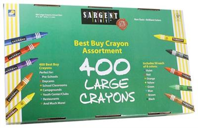 Best Buy Large Crayons, Assorted, Set of 400