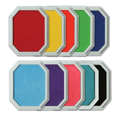 Giant Washable Stamp Pads, Set of 10