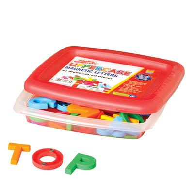 Uppercase Magnetic Letters, Multicoloured, 42 Pieces