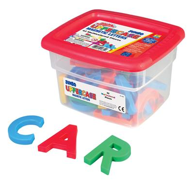 Jumbo Uppercase Magnetic Letters, Multicoloured, 42 Pieces