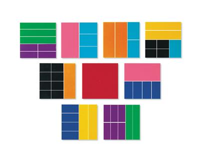 Deluxe Rainbow Fraction Squares