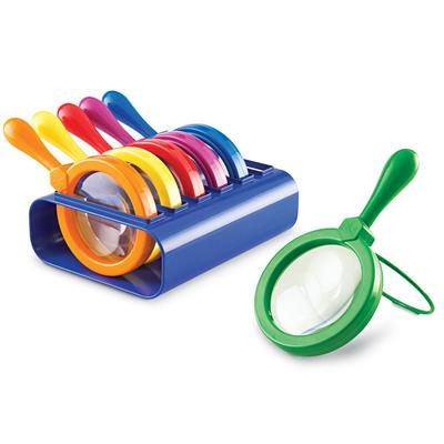 Jumbo Magnifiers with Stand, Set of 6