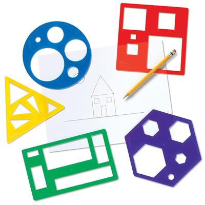 Primary Shapes Templates, Set of 5