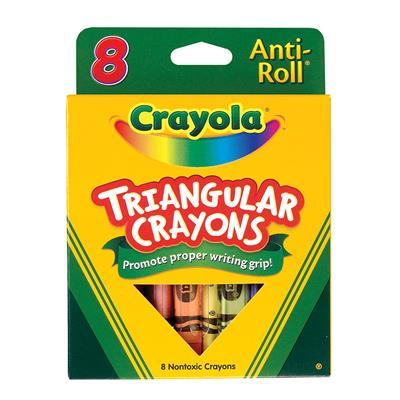 Crayola Triangular Anti-Roll Crayons, Set of 8