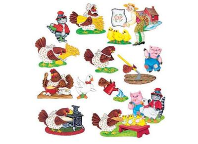 Little Red Hen Flannel Board Set