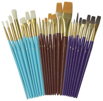 Creativity Street Deluxe Brushes, Assorted, Set of 24