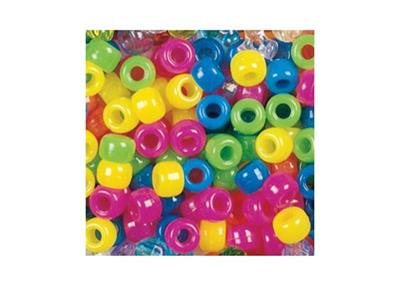 Pony Beads, Neon colours, 1,000 Pieces