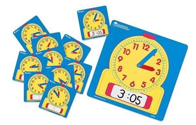 Write-N-Wipe Student Clocks, Set of 10