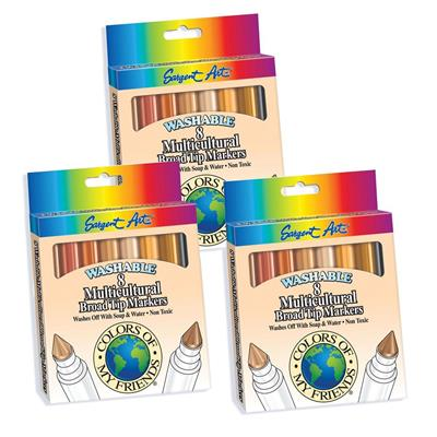 Washable Markers, Multicultural, Set of 24