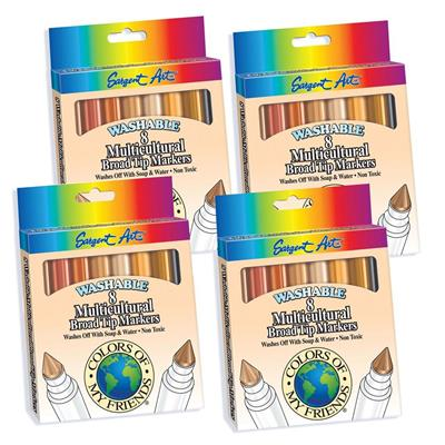 Washable Markers, Multicultural, Set of 32