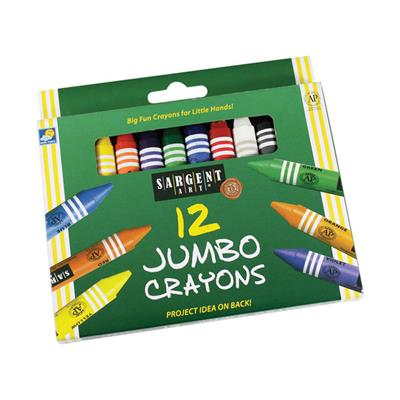 Large Best Buy Crayons, Assorted, Set of 12