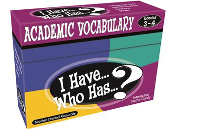 I Have... Who Has...? Vocabulary Game, Grade 4-5
