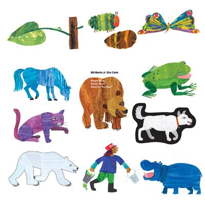 Eric Carle Flannel Boards, Set of 3