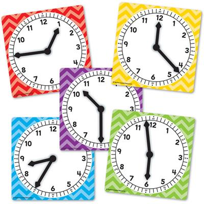 *Clock Cards, Set of 5