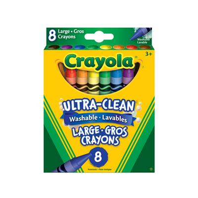 Crayola Washable Large Crayons, Set of 8