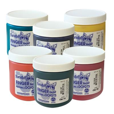 Finger Paint, 473 ml, Set of 6