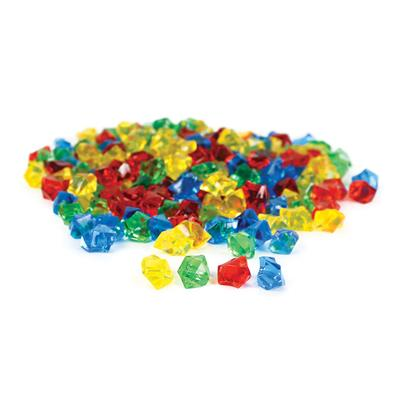 Transparent Counting Jewels, Assorted, 200 Pieces