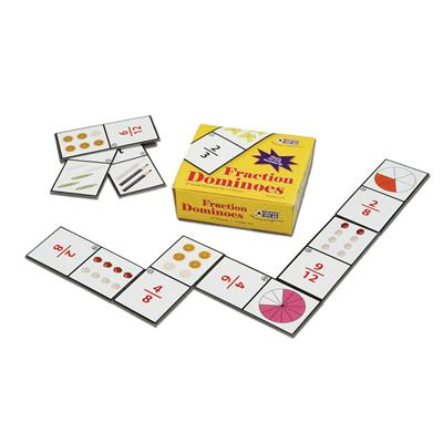 Fraction Dominoes, 45 pieces