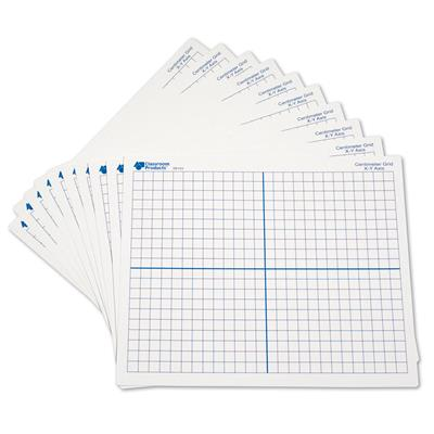 Double-Sided X, Y Axis Dry-Erase Mats, Set of 30